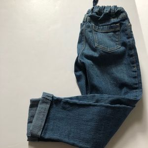 Boy's Old Navy straight cuffed jeans adjustable 5T
